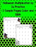 Halloween Multiplication by 2s 2 Times Sample Freebie