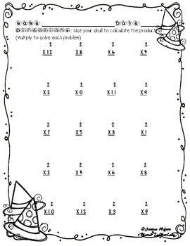 Halloween Multiplication by 2s 2 Times Sample Freebie