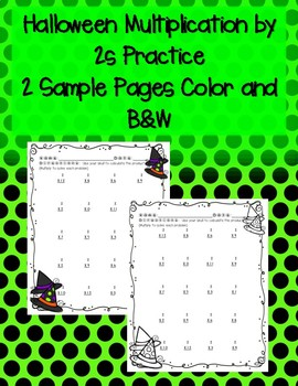 Halloween Multiplication by 2s 2 Times Mini Pack