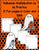 Halloween Multiplication by 6s 6 Times in Color and Black and White Soooo Cute!!