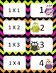Halloween Multiplication facts (0-3)  Concentration & War Card Games