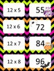 Halloween Multiplication facts (8 - 12)  Concentration & War Card Games