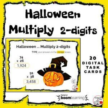 Halloween Multiply ... 2-digits by 2-digits ... Internet Paperless Digital