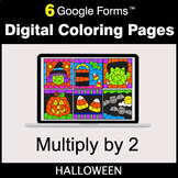 Halloween: Multiply by 2 - Google Forms | Digital Coloring Pages