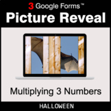 Halloween: Multiplying 3 Numbers - Google Forms Math Game