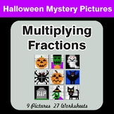 Halloween Math: Multiplying Fractions - Color-By-Number Math Mystery Pictures