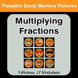 Halloween: Multiplying Fractions - Color-By-Number Mystery Pictures