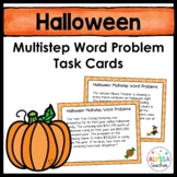 Halloween Multistep Word Problem Task Cards (Grade 4)