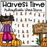 Multisyllable Word Game for Fall or Halloween