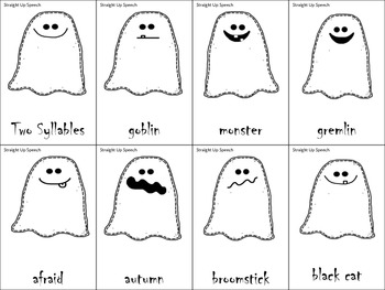 #oct2017slpmusthave #slpmusthave Halloween Multisyllable Ghosts
