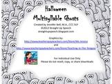 Halloween Multisyllable Ghosts