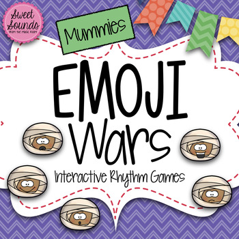 Halloween Mummies Emoji Wars Ta Rest {Interactive Rhythm Game}