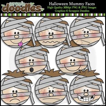 Halloween Mummy Faces