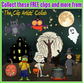 Halloween Mummy Kid Trick or Treat Free!  Clip Artists Collab Freebie