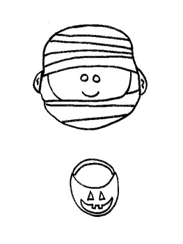 "Halloween Mummy Puppet or ""M"" for mummy puppet"