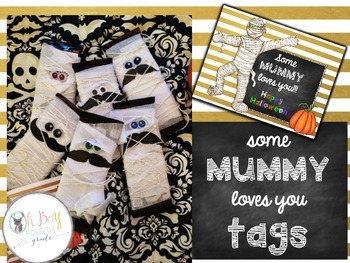 Halloween Mummy Tags
