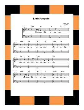 Halloween Music- Little Pumpkin Sheet Music