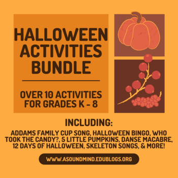 Halloween Music Activities Bundle