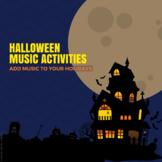 Halloween Music Activities - Music Theory