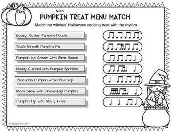 Halloween Music Activities and Worksheets