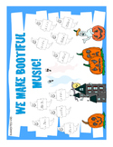 Halloween Music Bulletin Board Kit