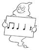 Halloween Music Bulletin Board Kit