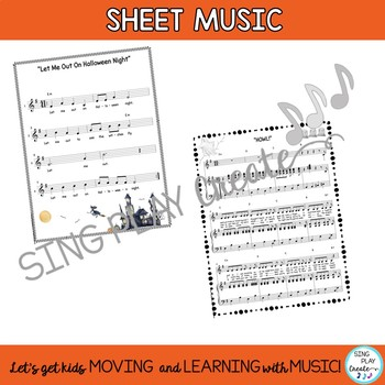 Halloween Music Bundle of Songs, Activities, Actions, Music, Video, Mp3 Tracks