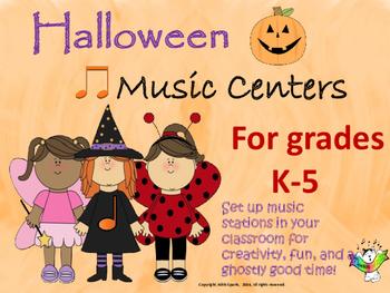 Halloween Music Centers for Grades K-5