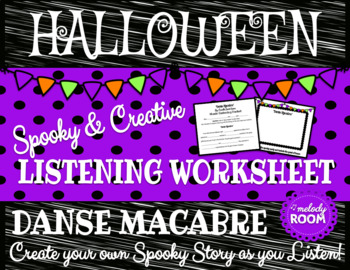 Halloween Music: Danse Macabre Listening Worksheet