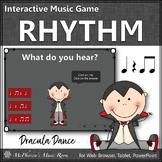 Halloween Music Eighth Notes Interactive Rhythm Game {Drac
