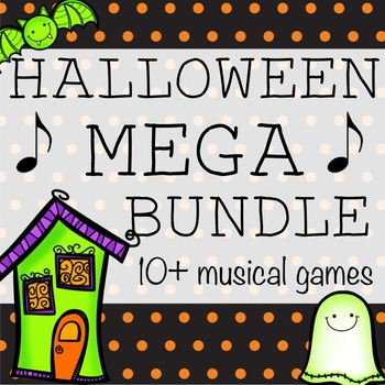 Halloween Music Games Mega Bundle- 10+ Games and Activities!