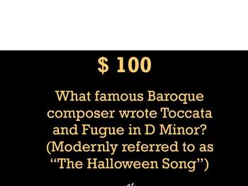 Halloween Music Jeopardy