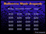 Halloween Music Jeopardy