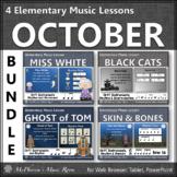 Halloween Music Lessons & Orff Arrangements for October {Bundle}