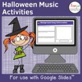 Halloween Music Listening Activities- Set 1