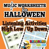 Halloween Music Listening Piano Ear Training Activity with