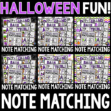 Halloween Music Note Matching Growing Bundle for October -