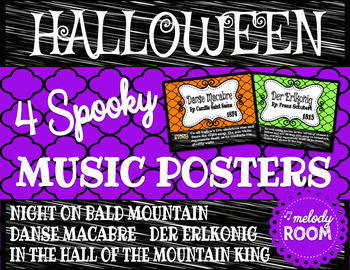 Halloween Music Posters - Chevron