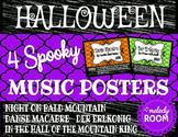 Halloween Music Posters
