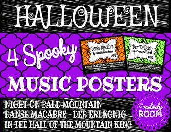 Halloween Music Posters - Chevron
