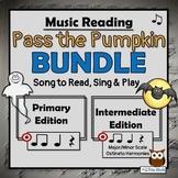 Halloween Music Reading Activity K-5 BUNDLE– Pass the Pumpkin