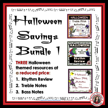 Halloween Music Resources Bundle 1