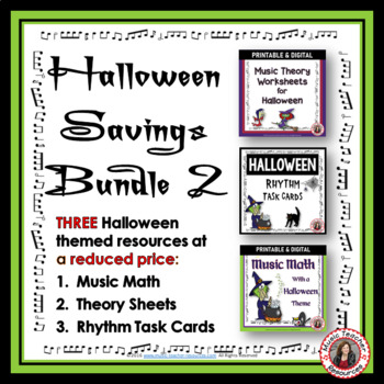 Halloween Music:  Halloween Music Activities Bundle 2