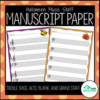 Halloween Music Staff Manuscript Paper