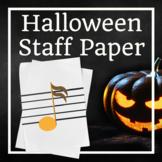 Halloween Music Staff Paper