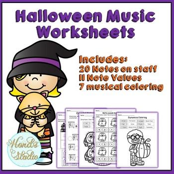 Halloween Music Worksheets