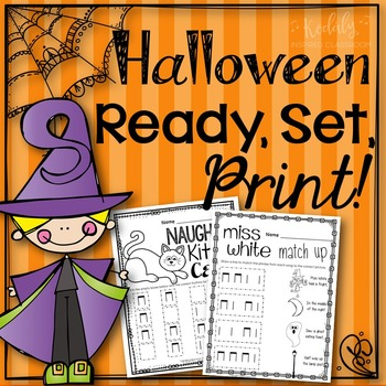 Halloween Music Worksheets {Ready Set Print!}