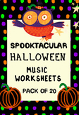 Halloween Music Worksheets_20 PAGES_NO PREP