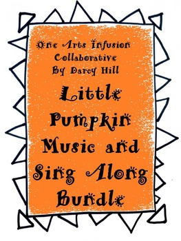 Little Pumpkin Halloween Music, Sing Along, & Rhyme and Draw Bundle