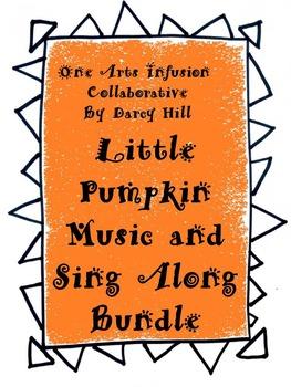 Little Pumpkin Halloween Music, Sing Along, & Rhyme and Draw Bundle